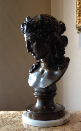 Ariadne, Artist Unknown, Compagnie des Bronzes de Bruxelles, late 1800's.